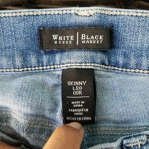 White House Black Market Jeans - White Black Blue Jeans Skinny Es 00R Leg